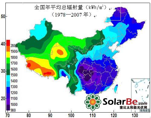 我国太阳能资源分布概述