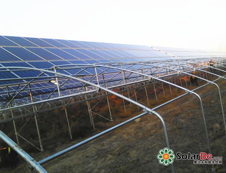 协鑫新能源内蒙古香岛161mw农光互补项目顺利并网