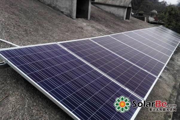 通过光伏组件,将太阳能转化为电能