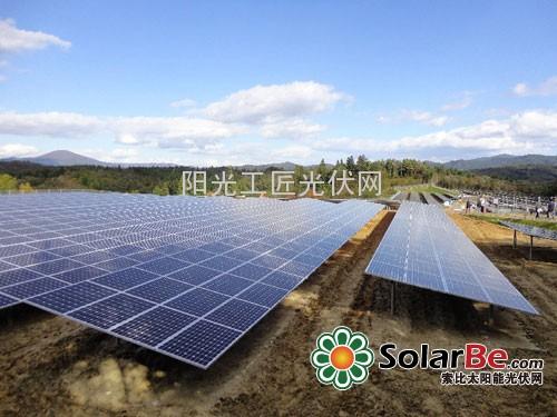 日本百万光伏电站土地利用率高 平整性 突出