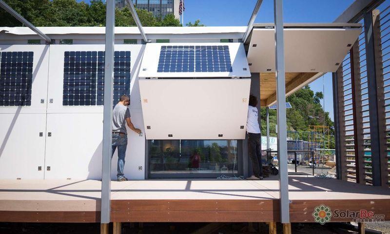 一群 书呆子 建的100 太阳能发电房,让你在飓风中也能淡定狂笑 组图