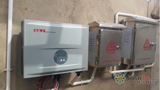 三晶电气光伏逆变器应用在秦川首家家庭光伏发电项目