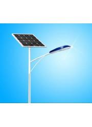 厂家定做6米、7米、8米不同规格自弯臂路灯杆、太阳能路灯