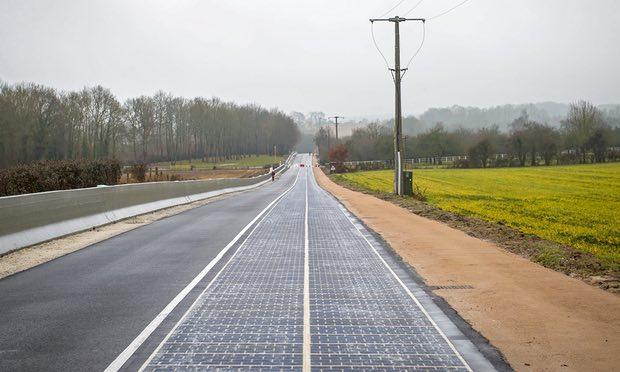 法国建成世界首条太阳能道路