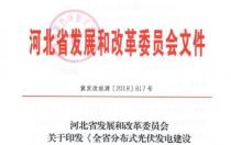 河北发改委关于印发《全省分布式光伏发电建设指导意见(试行)》的通知