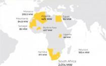 【图说】非洲光伏、风电、水电地图