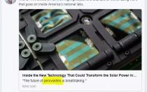 连比尔盖茨都忍不住转发的太阳能新技术 纤纳光电与Oxford PV双双突破钙钛矿记录