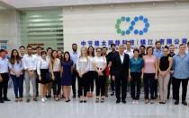 悉尼大学师生赴中节能太阳能镇江公司参观交流