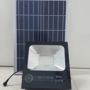 九州太阳能光敏感应投光灯/照明灯100W-- 广东九州太阳能科技有限公司