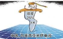 印度对进口太阳能电池征收25%关税