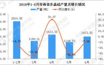 2018年1-6月青海省多晶硅产量及增长情况分析:同比下降6.3%