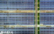 空中俯瞰全国最大污水处理厂光伏发电项目(组图)