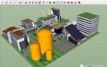 各类光伏电站应用场景三维模型图