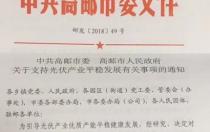 江苏高邮市关于支持光伏产业平稳发展有关事项的通知