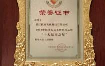 """杭开光伏获""""中国分布式光伏系统品牌十大运维之星奖"""""""