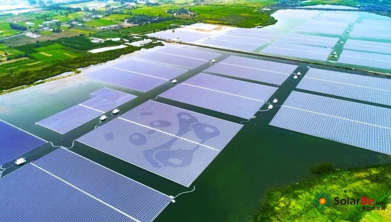 安徽淮南市新集102MW水面漂浮式光伏电站