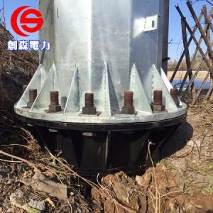 电力钢杆厂家供应10KV钢杆钢杆 10KV电力钢杆-- 霸州市创森电力机具制造有限公司