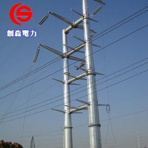 电力钢杆光伏打桩车钢桩基础定做钢杆