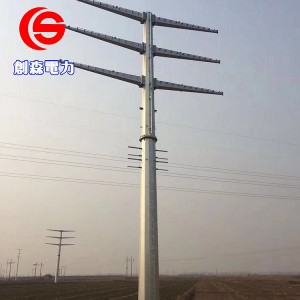 输电电力钢杆厂家光伏打桩车定做钢杆