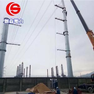 优质电力铁塔钢管杆输变电线路钢杆光