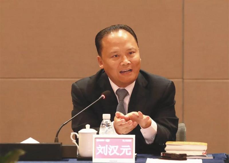 (刘汉元主席与媒体记者交流)
