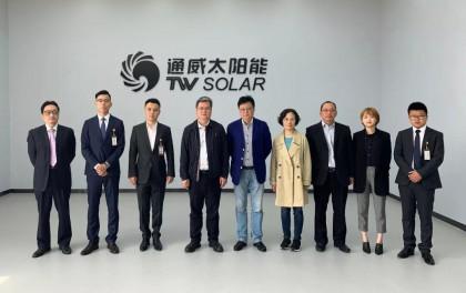 上海电建总经理蒋林弟一行莅临通威太阳能考察