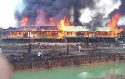 太阳能电池板引发火灾,柬埔寨一校舍被烧毁