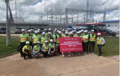 中越新能源企业代表团参观越南油汀东南亚单体最大500MW光伏电站