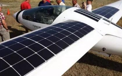 不仅仅有光伏手机和光伏汽车 光伏飞机完成试飞!