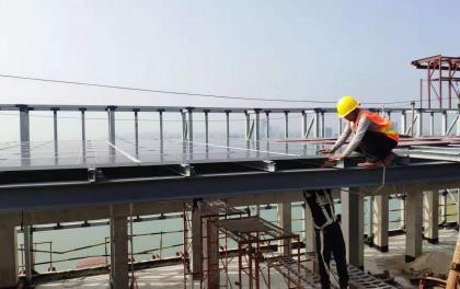 前海首个高层建筑光伏发电项目正式投运