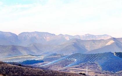 光伏发电技术领跑基地山西黎城县250MW光伏发电项目现场