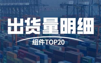 智新咨询发布 | 2019年度TOP20光伏组件企业出货量明细