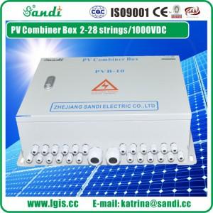 三迪太阳能光伏防雷汇流箱10进1出直流汇流箱 厂家直销-- 浙江三迪电气有限公司