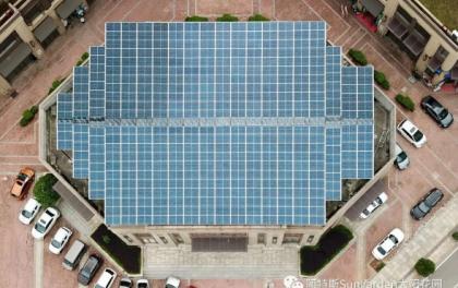华润的商铺屋顶也安装了阿特斯太阳花园发电系统,有眼光!