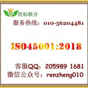 北京ISO45001职业健康安全认证,ISO认证服务机构-- 世标联合(北京)科技有限公司