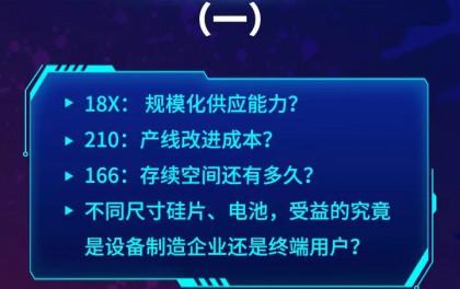 166、18X、210,哪种尺寸光伏组件将成为平价时代首选?