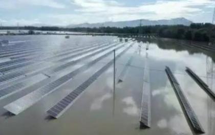 痛心 40MW光伏电站被洪水淹没!